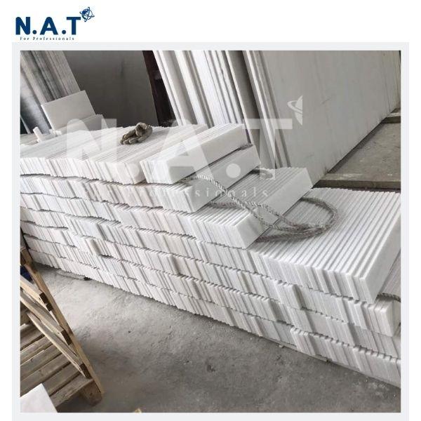 Viet Nam pure white marble skirting