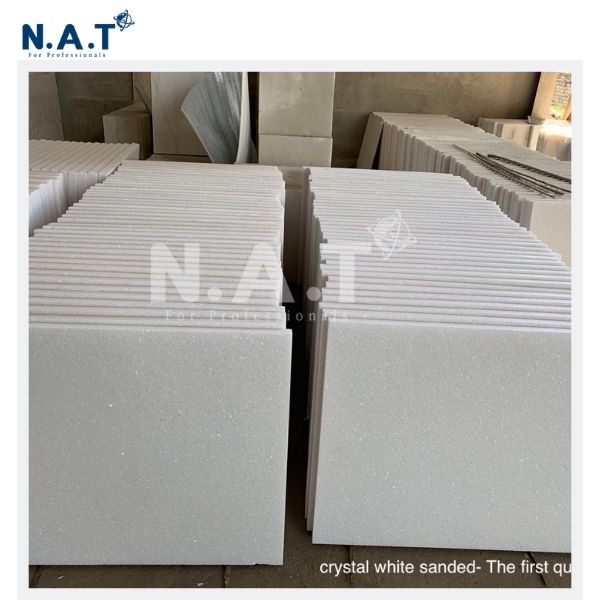 Viet Nam Pure white marble sanded