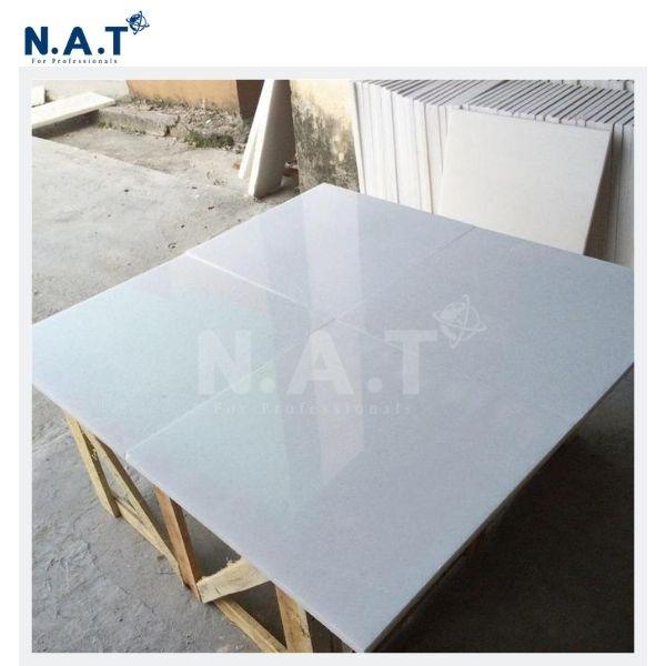 Viet Nam pure white marble tiles