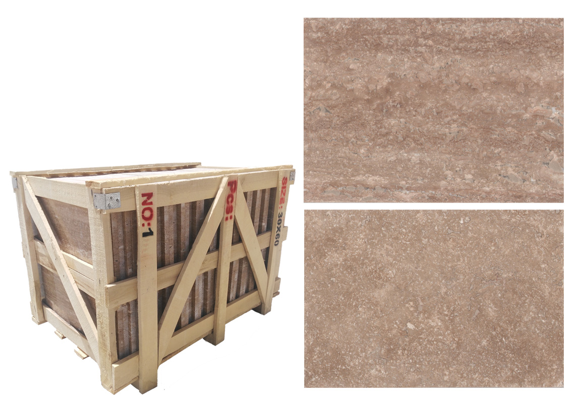 Iran Cross Cut Beige Travertine Tiles