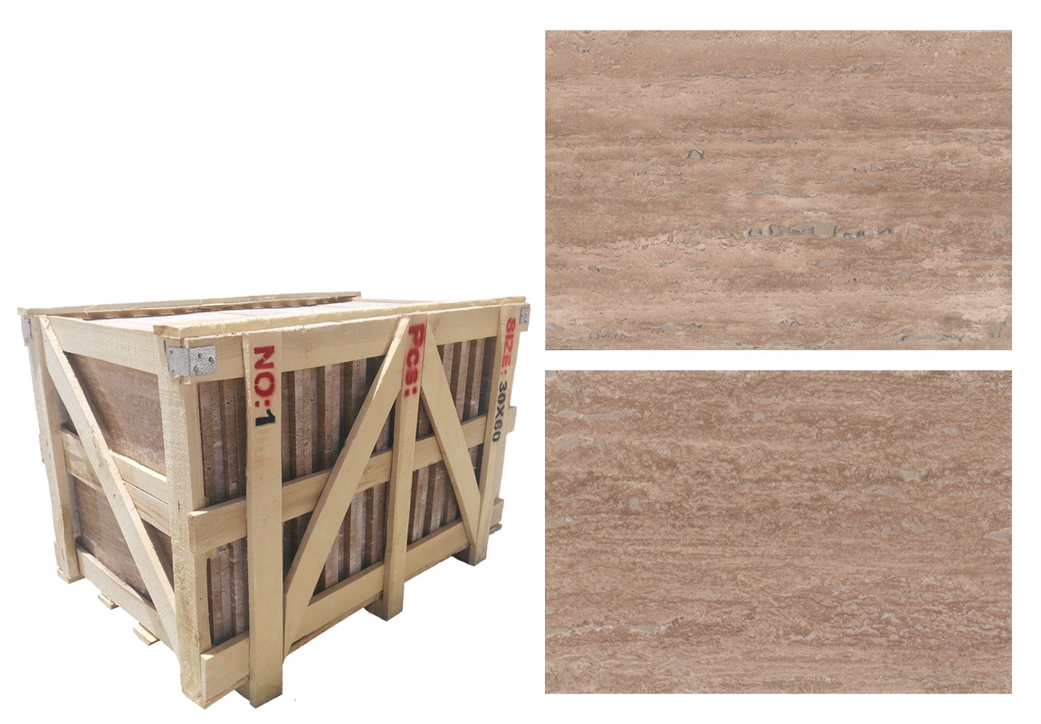 Iran Vein Cut Beige Travertine Tile 30 60 2