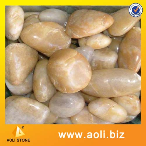 Polished Yellow Pebble stone for construction