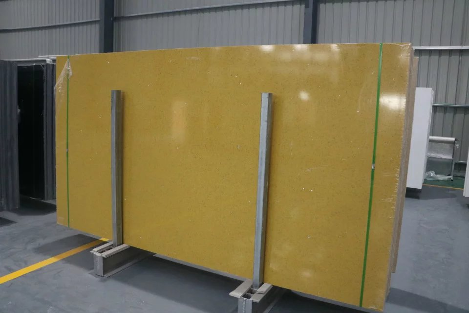 Quartz stone artificial yellow quartz slab