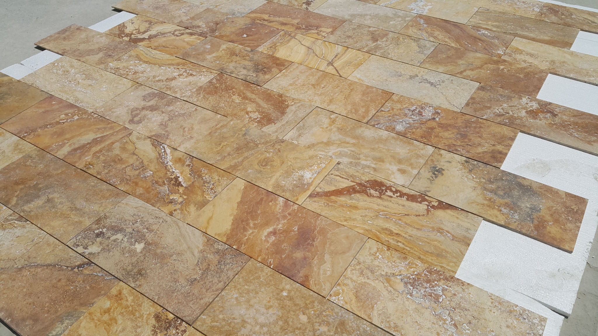 High Quality TurkishYellow Travertine tiles