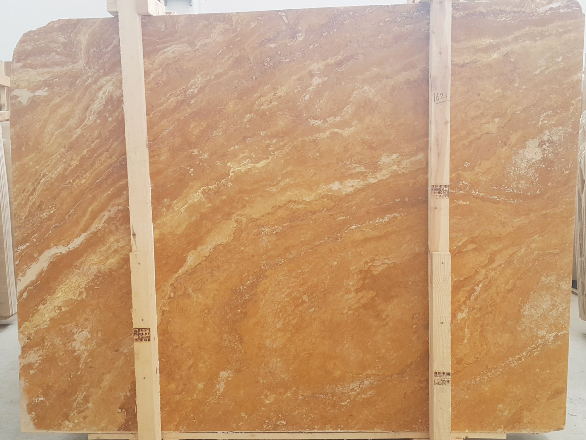 Gold Yellow travertine Slabs