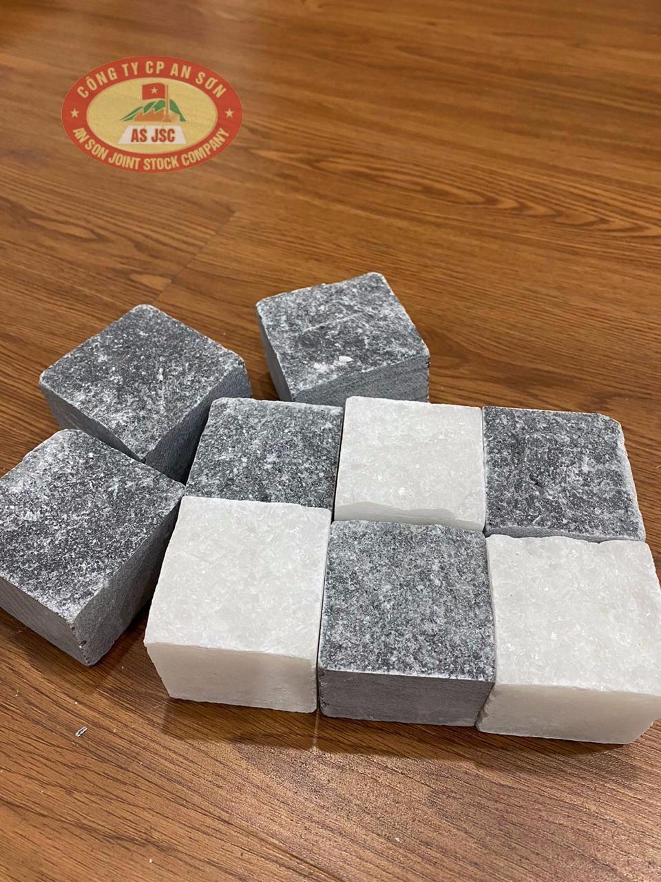 Natural Pure WhiteBlack Marble Cube stone