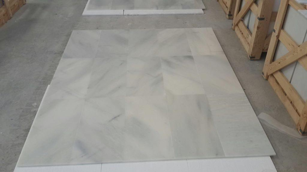 Zetta White Tile White Polished Marble Tiles
