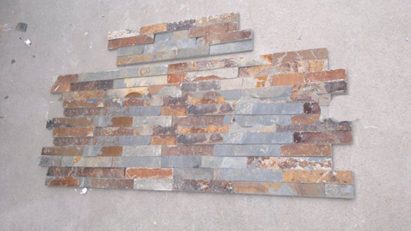rusty slate culture stone ledge stone wall panel