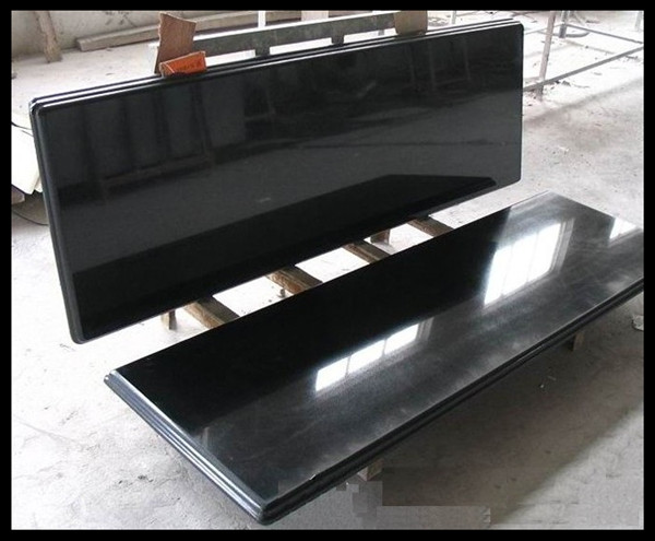 Polished black granite slabs with cheap price