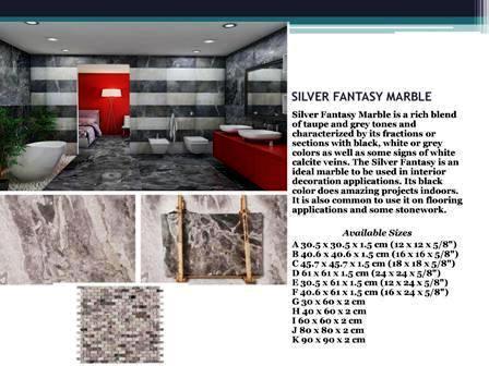 silver fantasy marble