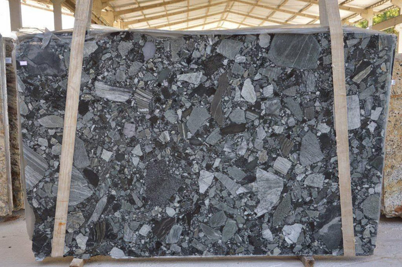 Black Rocky Granite Slabs