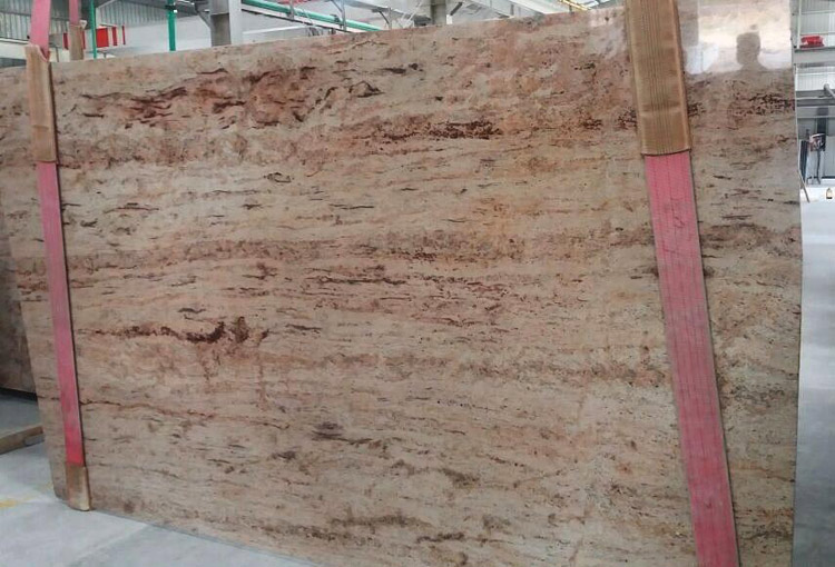 Brown Granite Slabs : Pink granite slab
