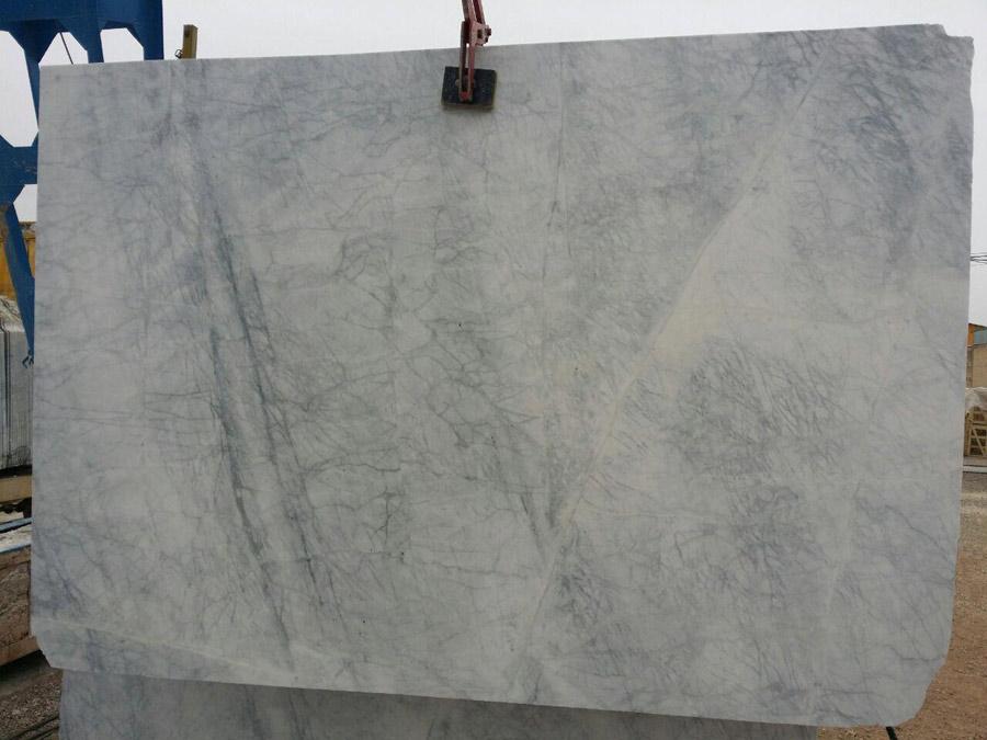 Carrera Santos White Marble Slabs