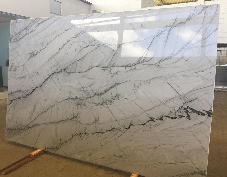 White Marble Slabs : Opus white marble slabs