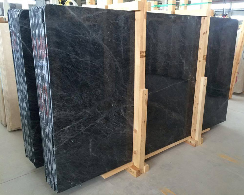 Thunder Black Marble Slabs
