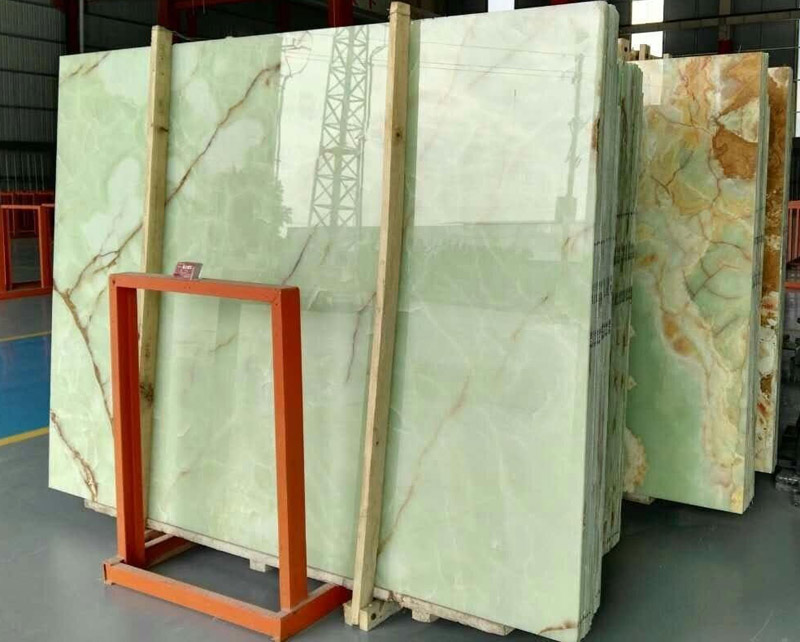 Nautral Green Onyx Slabs