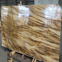 Golden Fire Marble Slabs