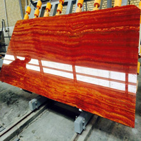Azarshahr Red Travertine Slabs