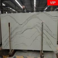 Statuario color Artificial Calacatta Quartz Stone Slabs China