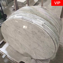Cararra White Round table tops
