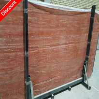 Red Travertine Slabs Iranian Red Stone Slabs