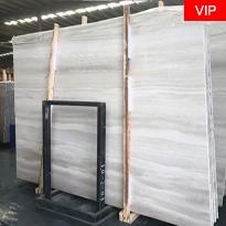 White Serpegiante  white wood grain marble slabs