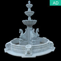 Stone Carved Horse Sculpture Water Fountain