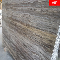 Silver Travertine Brushed Slabs
