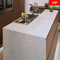 Carrara White Quartz Countertops