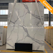 Artificial Calacatta White Quartz 3D Calacatta White Quartz stone