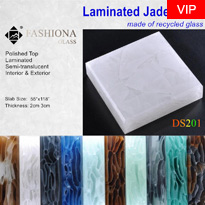 Laminated Jade Glass Panel