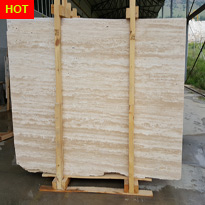 Light Vein Cut Travertine Honed Unfilled Slabs