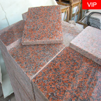 Maple Red Granite Paving Stone Polished Red Granite Paving Tiles