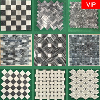 Marble Mosaics Tiles White And Black
