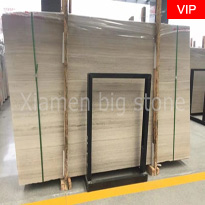 White Wooden Marble Slab