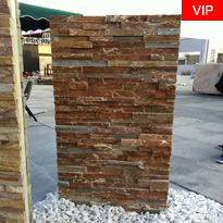 Natural slate stacked stone veneer wall panels