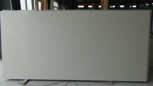 snow white quartz slab as countertop