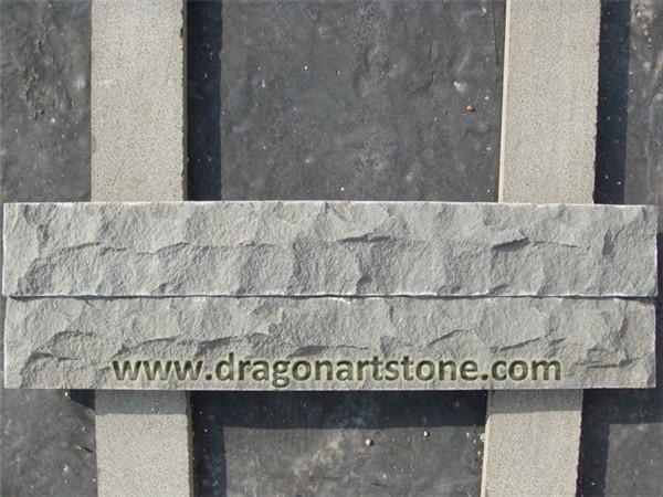 Split lava black stone basalt tile