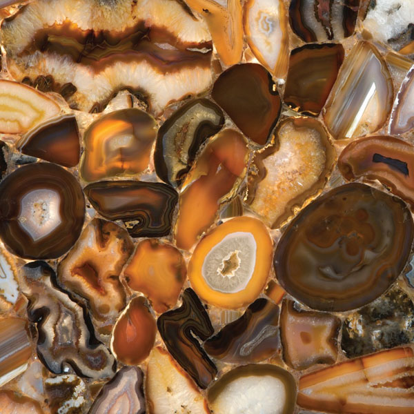 Semiprecious Brown Agate