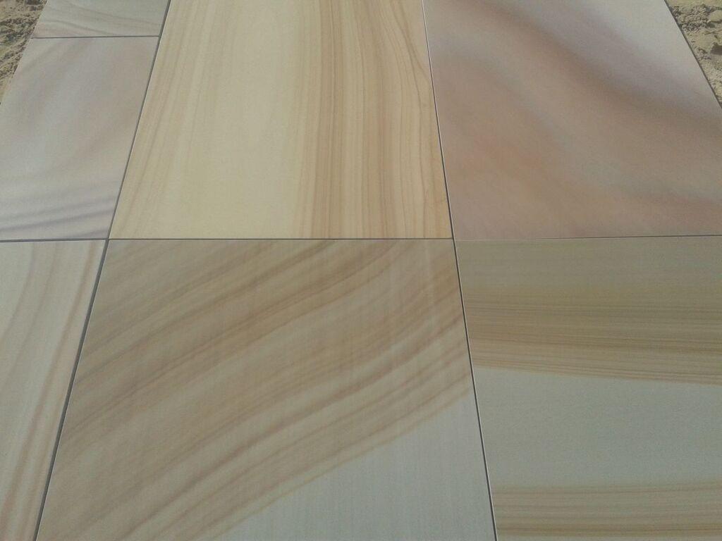Teak wood sandstone tile