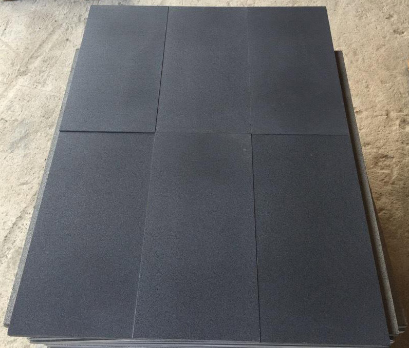 Honed Black Basalt Tiles