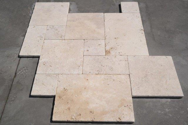 Travertine Light Cross Cut Unfilled