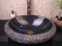 Basin Sink Cabinet Granite Sculpture