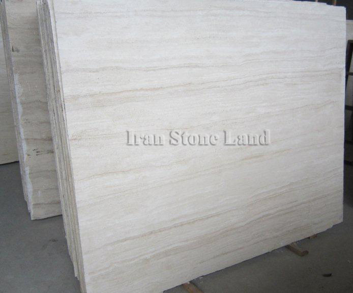 Supper white Travertine slab