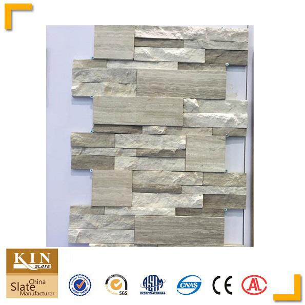 White wood marble stone veneer panels