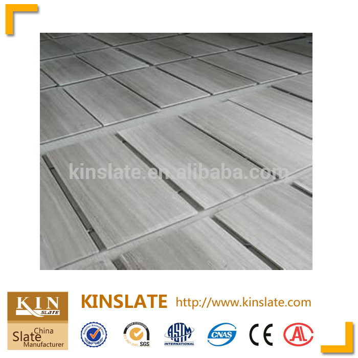 White wood vein marble flooring tile
