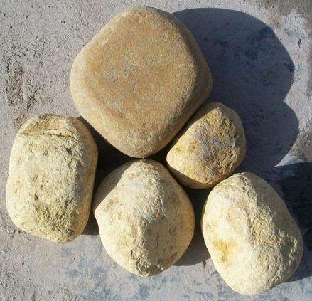 yellow pebbles