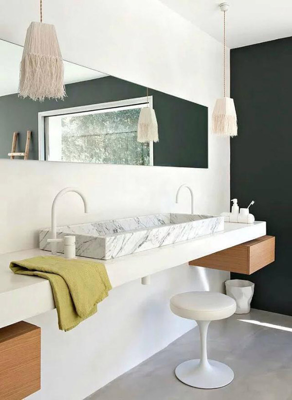 Bianco Carrara Marble Above Counter Basin